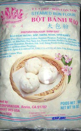 banh bao - steamed bun flour