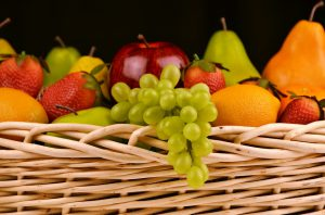Grapes Pears Fruit Basket Apples Strawberries