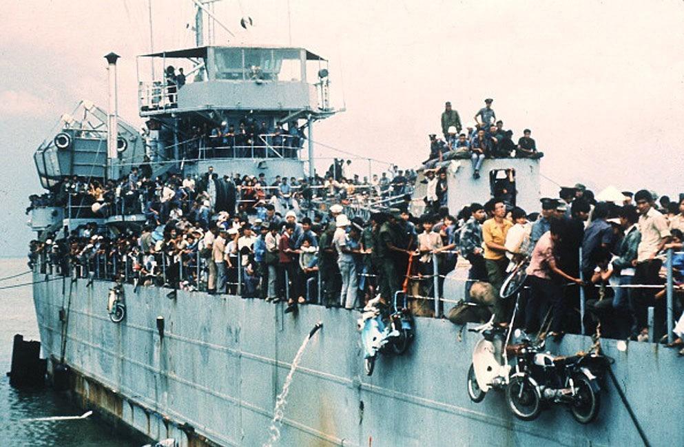 The Fall of Saigon, Vietnam in April, 1975