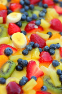 sweet summer rainbow fruit salad